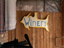 Jim Fish winery sign
