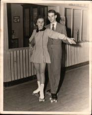 Mom & Dad on skates