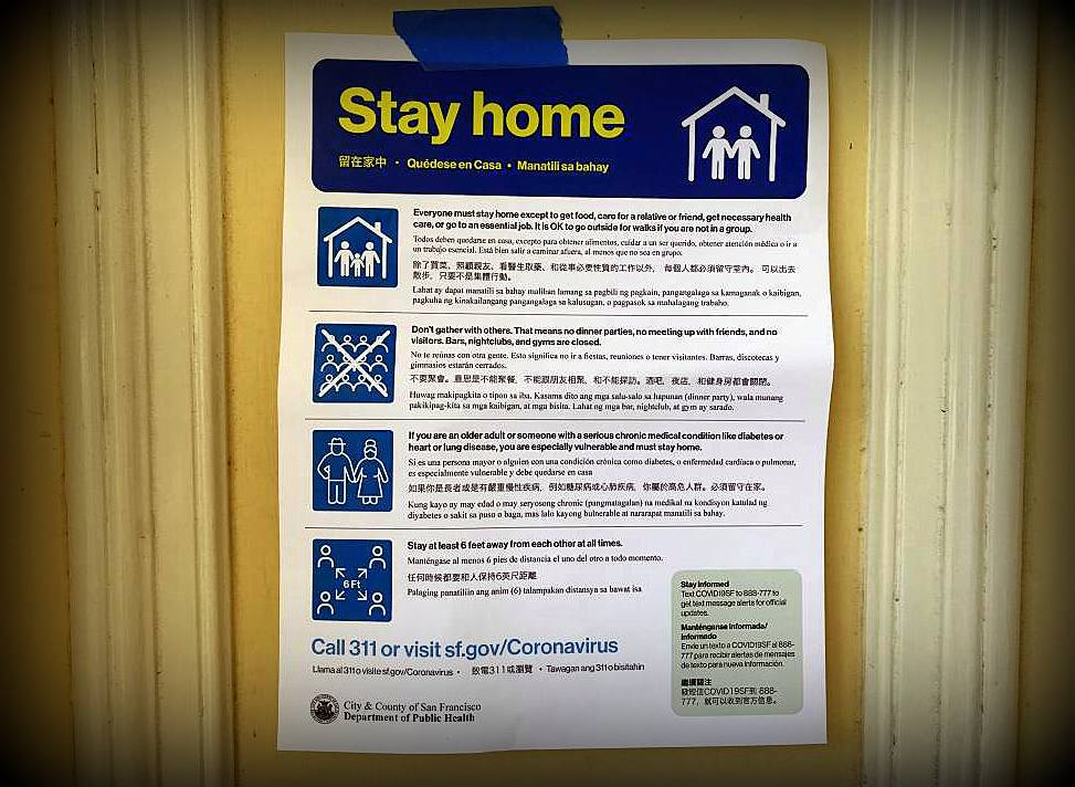 Stay Home flyer