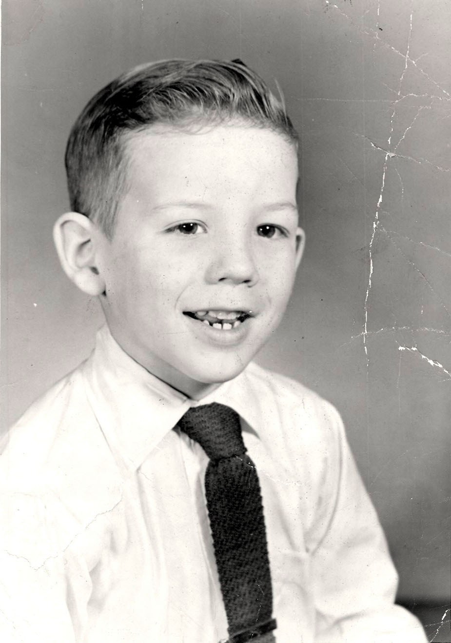 A very young me